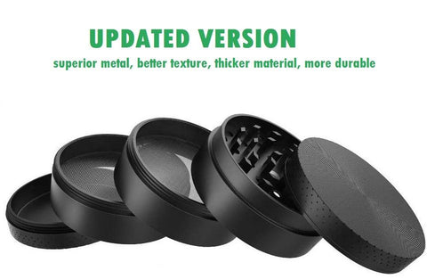 "5 Piece 2.1"" Spice Herb Grinder - Color Metal Black"