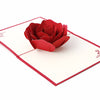 Image of 3D Floral Pop Up Card and Envelope - Red flower