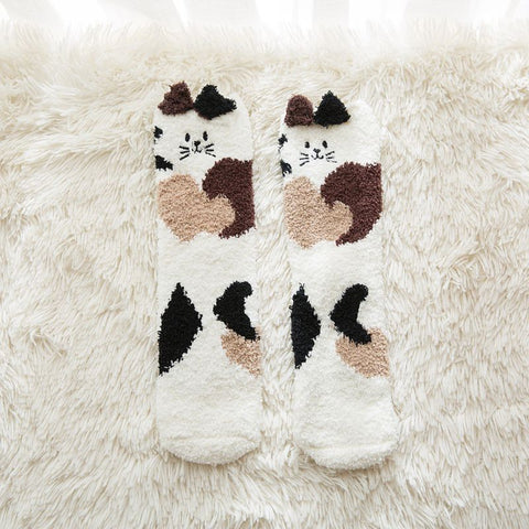 Winter Socks for Girls - Soft Warm Fluffy Cozy - Funny Animal - [1 Pair]