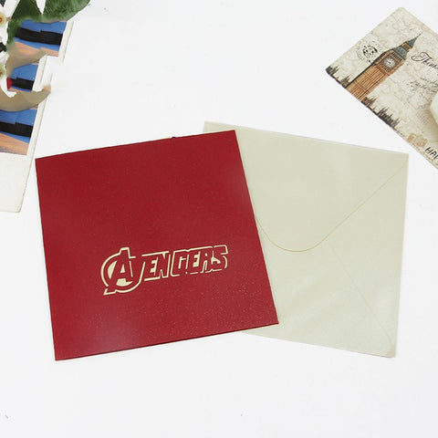 3D Avengers Pop Up Card and Envelope - Avengers