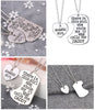 Image of Daddy's Girl Heart Pendant Necklace - Father Daughter Necklace Set