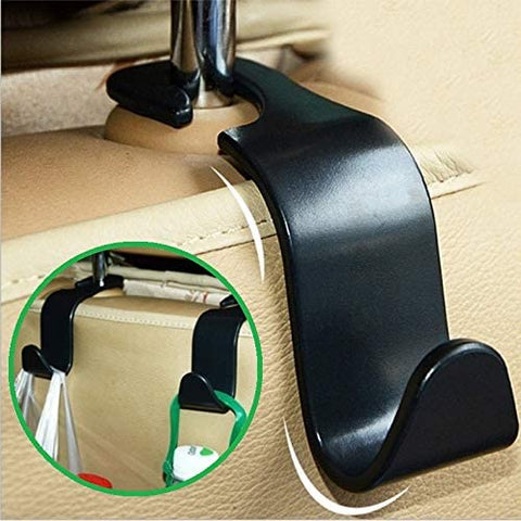 Car Seat Hooks for Car (4 Pack) - Back Seat Organizer Hanger Storage Hook