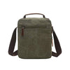 Image of Small Canvas Crossbody Shoulder Bag - Green