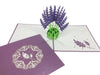 Image of 3D Floral Pop Up Card and Envelope - Lavender