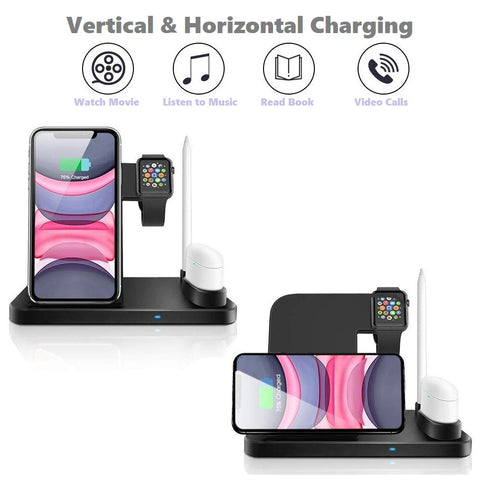 Wireless Charger 4 in 1 Compatible - Adapter Included