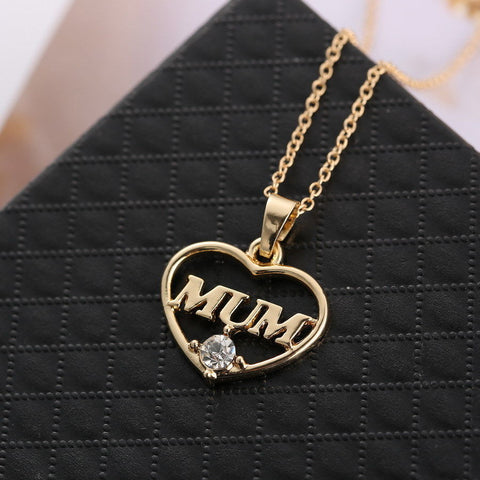 Mum Heart Pendant Necklace - Makes The Perfect Gift for Mom
