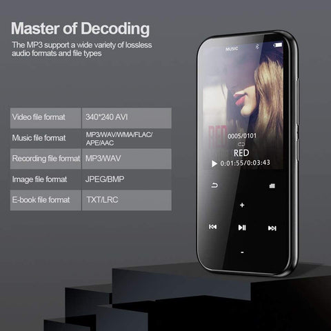 MP3 Player with Bluetooth - 4.2''