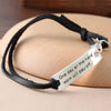 "Image of ""One Day All The Hard Work Will Pay Off"" Pendant Leather Bracelet - Friends Family Jewelry Gift - 10''"