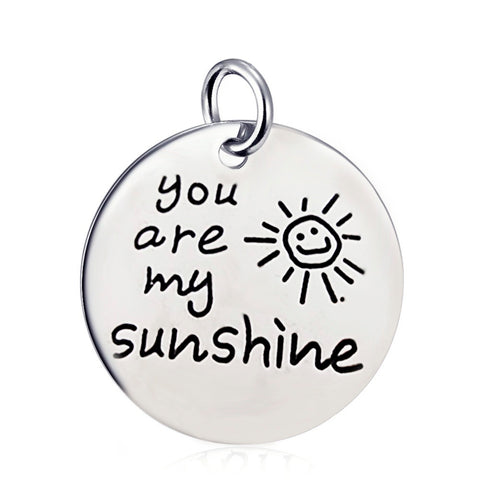 "You Are My Sunshine Pendant Necklace - 18"" chain"