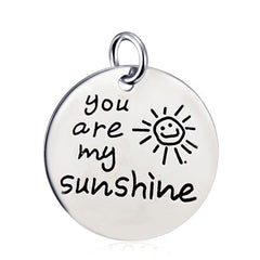You Are My Sunshine Pendant Necklace - 18