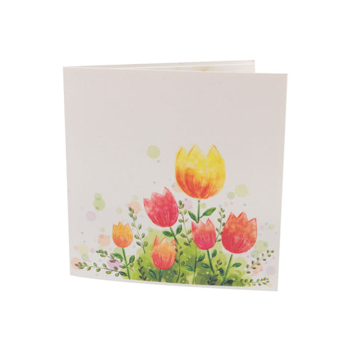 3D Floral Pop Up Card and Envelope - Tulips