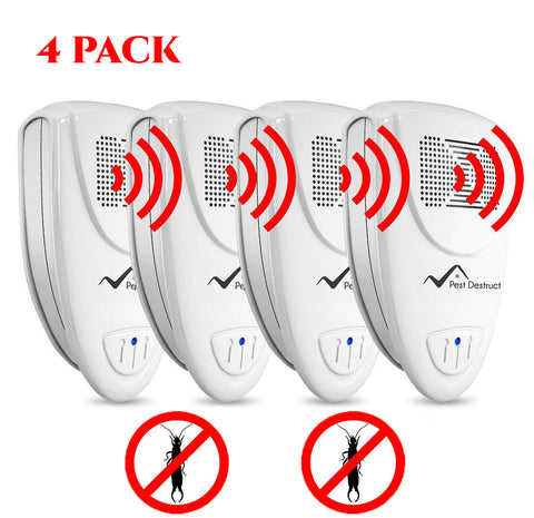 Ultrasonic Earwig Repeller - PACK of 4 - Get Rid Of Earwigs In 48 Hours Or It's FREE