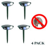 Image of Ultrasonic Armadillo Repeller - PACK OF 4 - Solar Powered - Get Rid of Armadillos in 48 Hours or It's FREE
