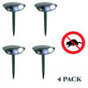 Image of Possum Outdoor Ultrasonic Repeller - PACK OF 4 - Solar Powered Ultrasonic Animal & Pest Repellant - Get Rid of Possums in 48 Hours or It's FREE