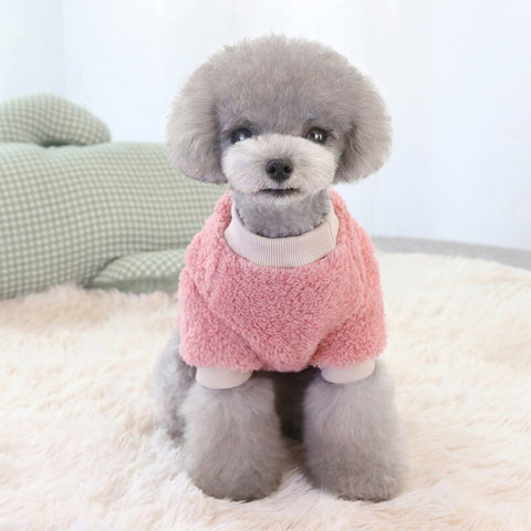 Cotton Pet Clothes for Dog Puppy Coat Hoodies Soft Warm Sweater - Pink