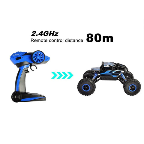 Remote Control Car, 2.4 GHZ High Speed Racing RC Trucks with Rechargeable Batteries Electric Toy Car for All Adults & Kids, Blue