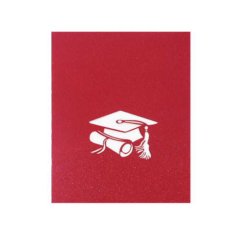 3D Graduation Pop Up Card and Envelope - Graduation hats