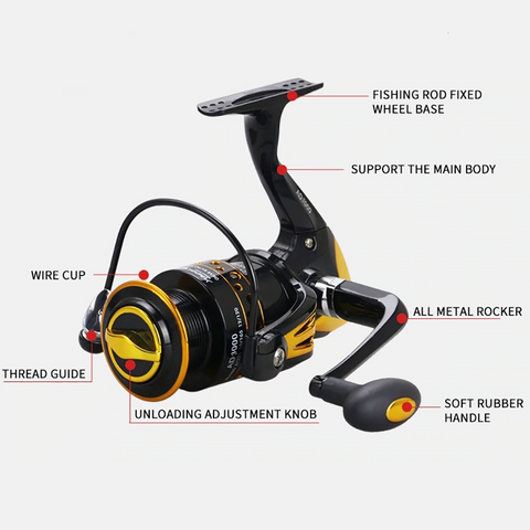 Spinning Fishing Reels for Freshwater - AD3000 Model
