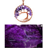 Image of Luvalti Tree of Life - Gemstone Chakra Jewelry Purple Bronze Chain Necklace