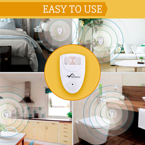 Ultrasonic Mosquito Repeller - PACK OF 2 - 100% SAFE for Children and Pets - Get Rid Of Mosquitoes In 7 Days Or It's FREE
