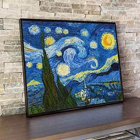Starry Night Puzzle - Large Paper Jigsaw Puzzle [1000 Pieces]