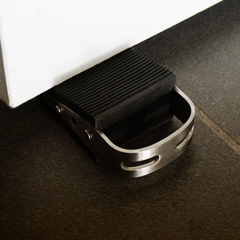 LARGE Rubber Door Stopper - Door Stop That Won't Scratch Floor or Door - Works On All Surfaces