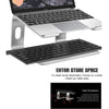 "Image of Laptop Stand Holder Computer Riser - Aluminum Cooling Notebook Stand Mount Laptops Elevator for Desk for 10-15.6"" Laptops - Silver"