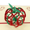 Image of 3D Apple Pop Up Card and Envelope - Red Apple