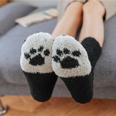 Winter Socks for Women - Soft Warm Fluffy Cozy - Cat Claw - [3 Pairs]