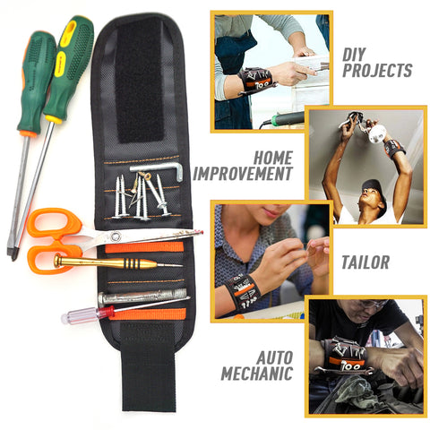 Magnetic Wristband Tool Belt - 2 Pack