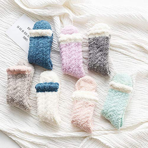 Winter Socks for Women - Soft Warm Fluffy Cozy - [7 Pairs]