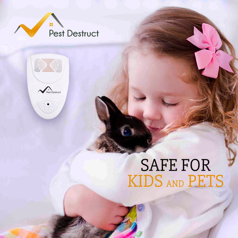 Ultrasonic Ant Repeller - 100% SAFE for Children and Pets - Get Rid Of Pests In 7 Days Or It's FREE