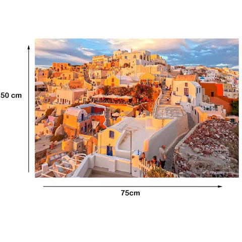 Sunny Greece - Large Paper Jigsaw Puzzle [1000 Pieces]