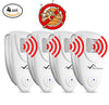 Image of Ultrasonic Bed Bug Repeller - PACK of 4 - 100% SAFE for Children and Pets - Quickly Eliminate Pests