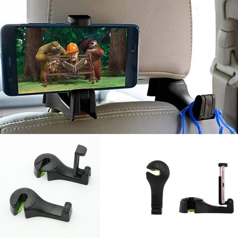 Car Seat Hook for Car 1 Unit - Back Seat Organizer Hanger Storage Hook Cellphone Holder