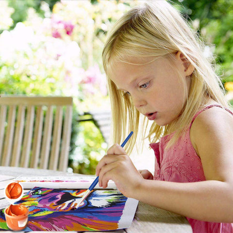 "DIY Acrylic Painting, Paint by Number Kits for Kids Beginner - Small Airplane 8"" x 8"""