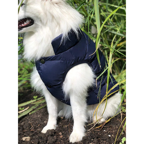 Double Layer Fleece Warm Dog Jacket Coat Vest for Puppy Winter Cold Weather Soft Windproof Apparel for Small Medium Large Dogs