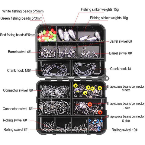 160 Piece Fishing Accessories Kit