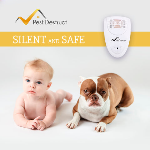 Ultrasonic Silverfish Repeller - PACK of 2 - 100% SAFE for Children and Pets - Get Rid Of Pests In 7 Days Or It's FREE