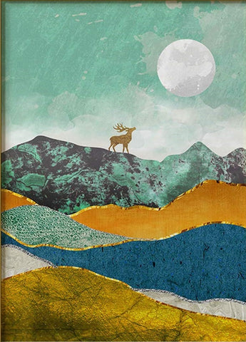 DIY Paint by Numbers Kit for Adults - Moon and Deer
