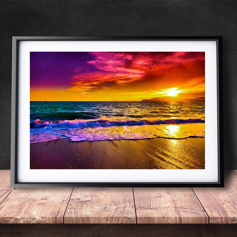 5D Diamond Painting by Number Kit Summer Beach