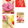 Image of 3D Flower Butterfly Pop Up Card and Envelope - Pink flower 2 Butterflies