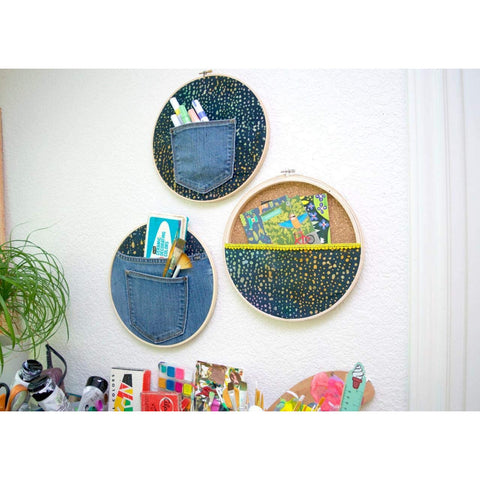 10 Pieces Embroidery Hoops Set Bamboo 8 inch