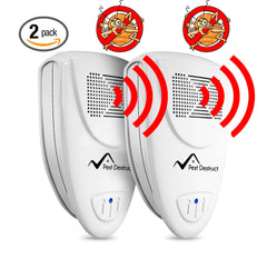 Ultrasonic Bed Bug Repeller - PACK of 2 - 100% SAFE for Children and Pets - Quickly Eliminate Pests