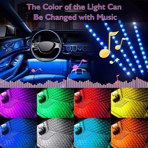 Car LED Strip Light - 4pcs 48 LED