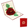 Image of 3D Floral Pop Up Card and Envelope - BIG Red Flower
