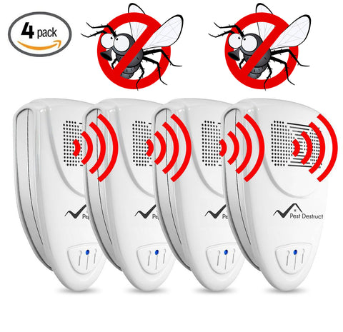 Ultrasonic Fly Repeller - PACK of 4