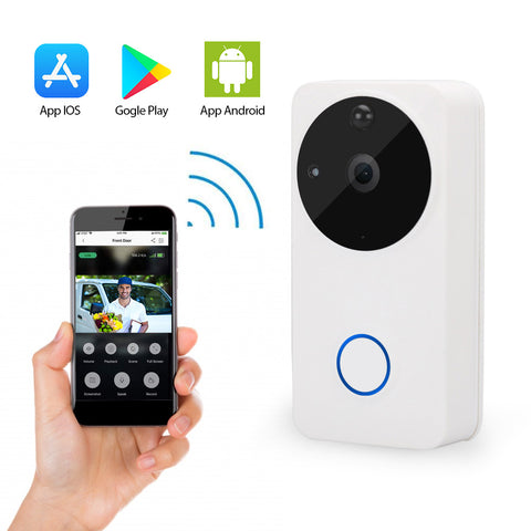 Smart Video Doorbell Camera - Night Vision & Motion Detection - Easy WiFi Setup - Up to 2 Years Stand By Battery Life