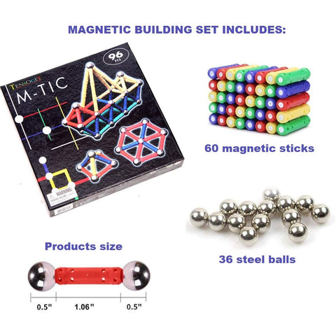 Magnetic Building Set 96 Piece