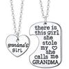 Image of Grandmas Girl Heart Pendant Necklace - Grandma Necklace Set